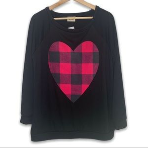 Valentines Plaid Heart Sweater